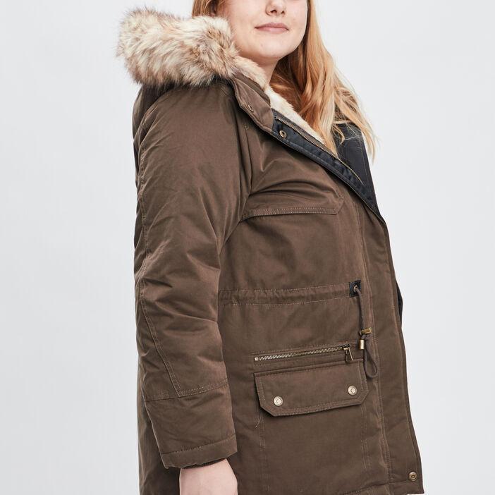 Manteau, parka femme grande taille vert kaki