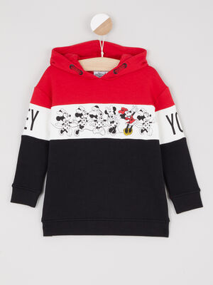 Sweatshirt Minnie a capuche multicolore fille