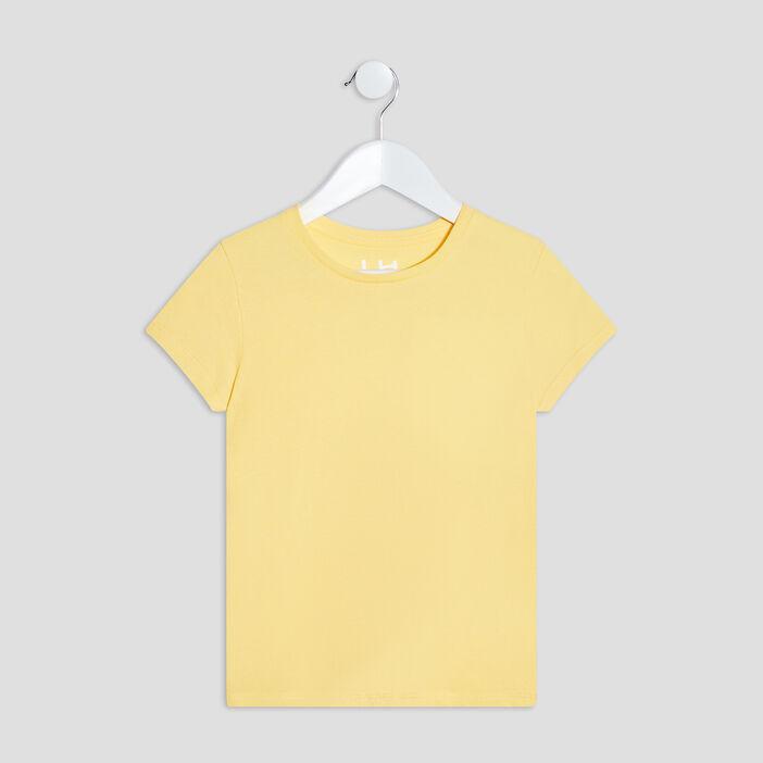 T-shirt manches courtes fille jaune