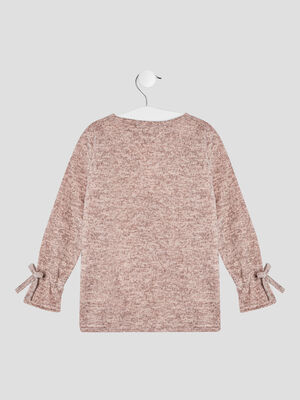 T shirt manches longues rose fille