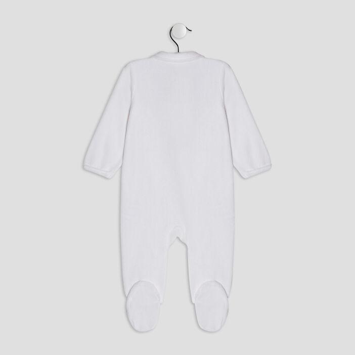 Dors-bien avec col claudine bébé blanc