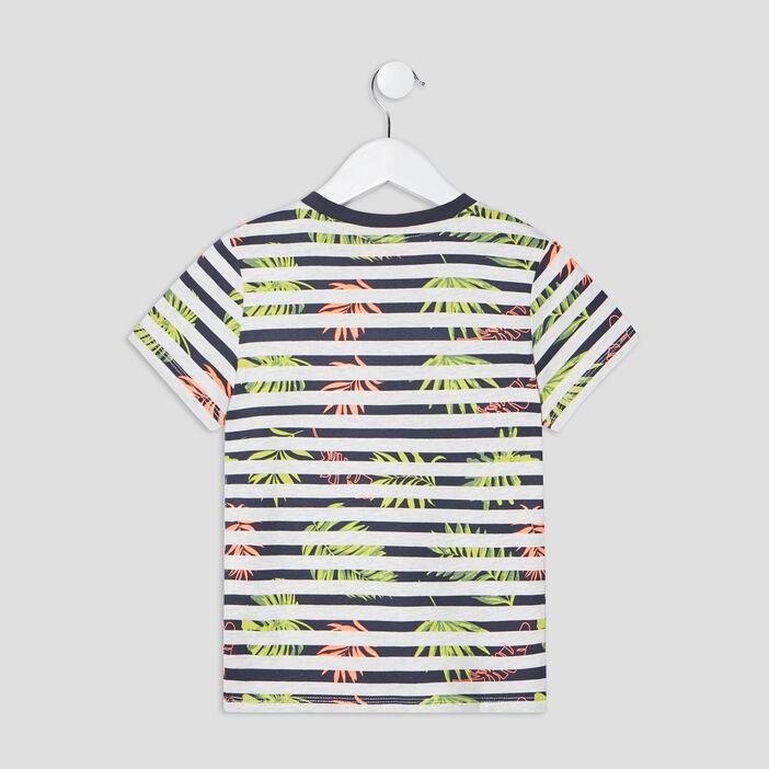 T-shirt manches courtes Creeks garçon bleu canard