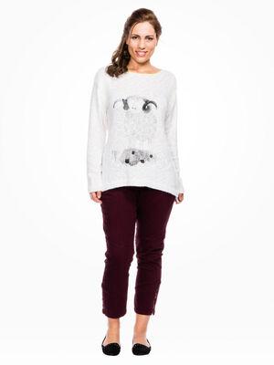 Pantalon slim 5 poches gris fonce femme
