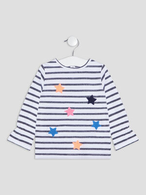 T shirt manches longues ecru bebef