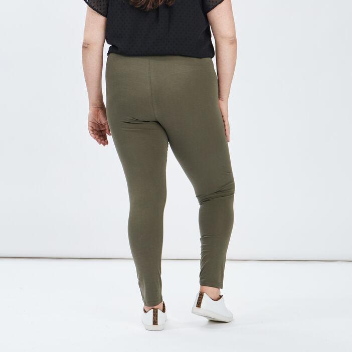 Leggings femme grande taille vert kaki