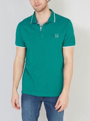 Polo manches courtes coton vert homme