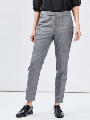 Pantalon cigarette 78eme gris femme