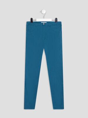 Pantalon slim bleu canard fille