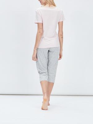 Ensemble de pyjama 2 pieces rose clair femme