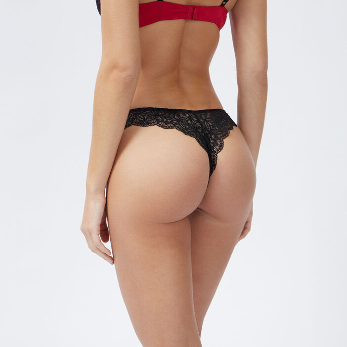 Culotte dentelle femme rouge