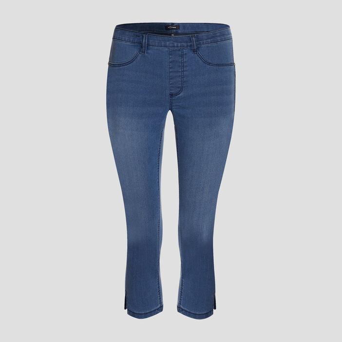 Pantacourt skinny en jean femme denim double stone