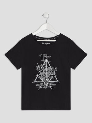 T shirt Harry Potter noir fille