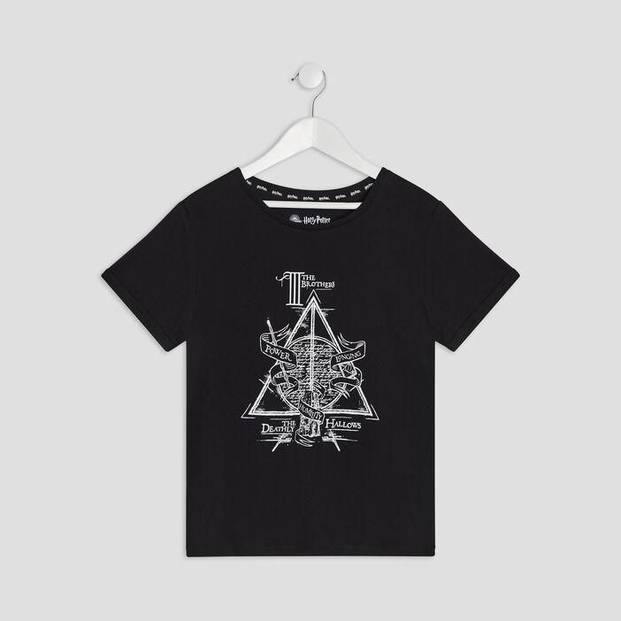T-shirt Harry Potter fille noir