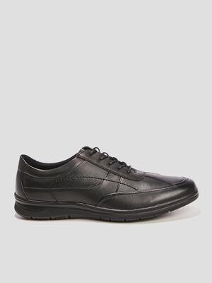 Sneakers unies ouverture lacee noir homme