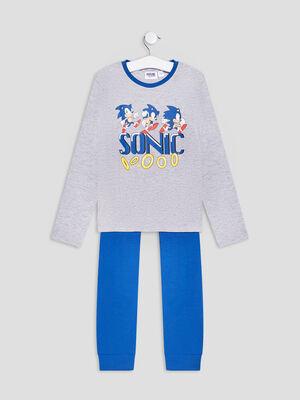 Ensemble pyjama Sonic gris garcon