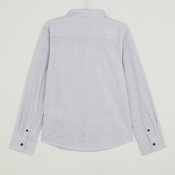 Chemise coton imprimée garçon blanc