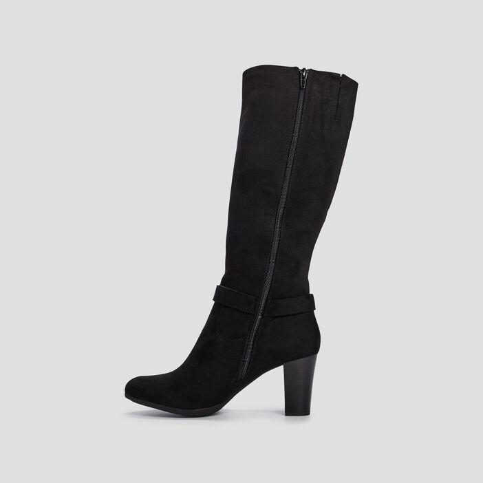 Bottes zippées Di Fontana femme noir