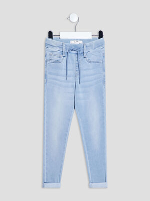 Jeans slim taille a coulisse denim double stone garcon