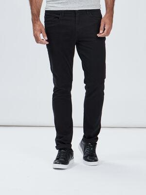 Pantalon slim noir homme