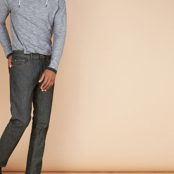 Jean regular en coton extensible homme noir