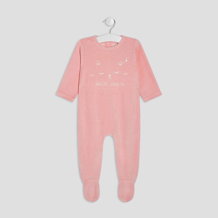 Dors-bien manches longues bébé fille rose fushia