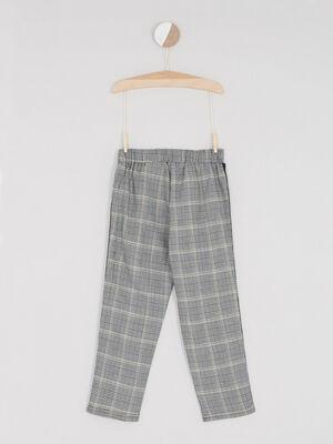 Pantalon imprime prince de galles multicolore fille