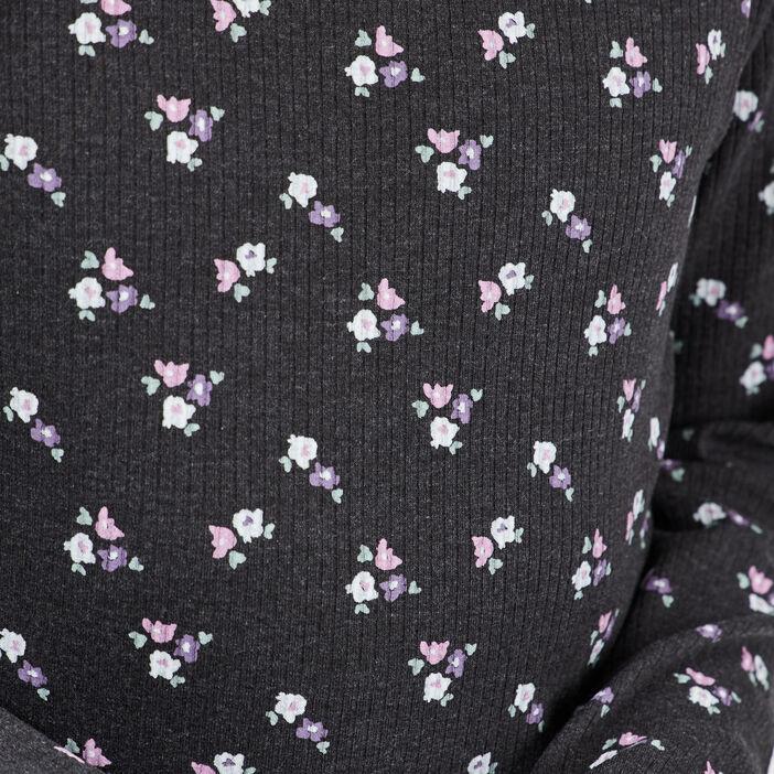 T-shirt manches longues fille gris fonce