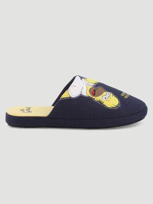 Chaussons Simpsons type mules bleu marine mixte