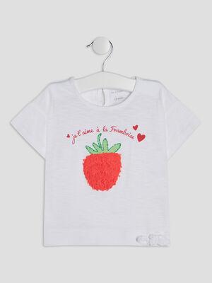 T shirt Pat et Ripaton blanc bebef
