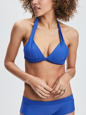 Haut de maillot de bain bleu roi femme