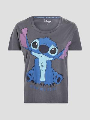 T shirt Lilo et Stitch gris fonce femmegt