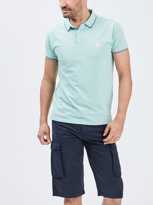 Polo manches courtes Creeks vert homme