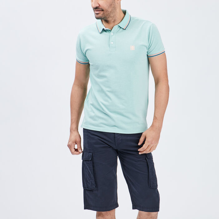 Polo manches courtes Creeks homme vert