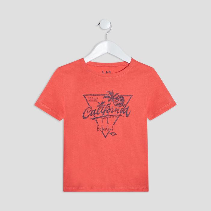 T-shirt manches courtes garçon rouge