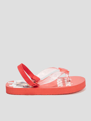 Tongs Minnie rouge fille