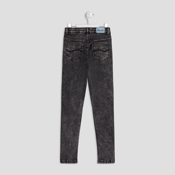 Jeans skinny Liberto fille denim snow noir