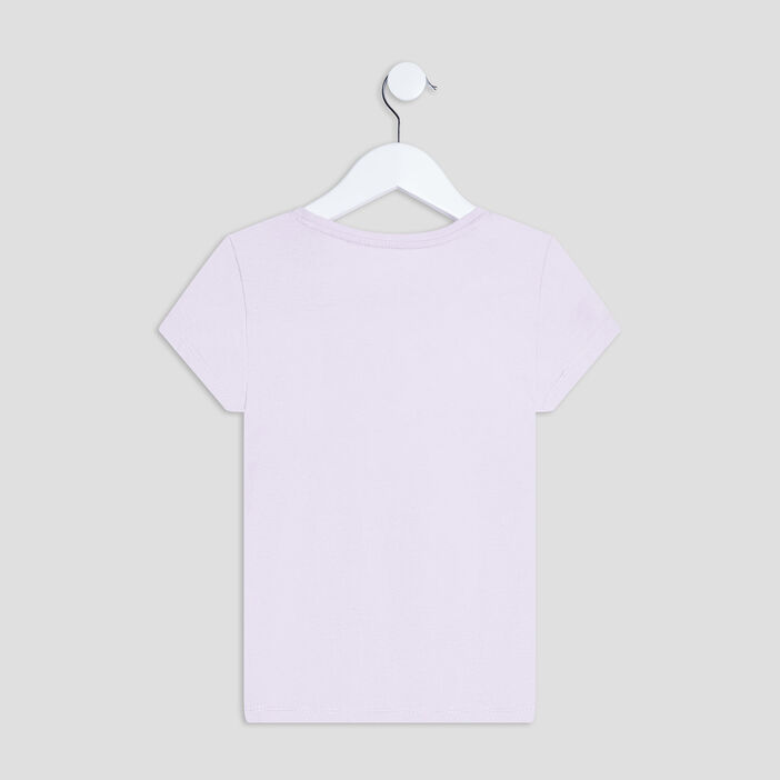 T-shirt manches courtes fille parme
