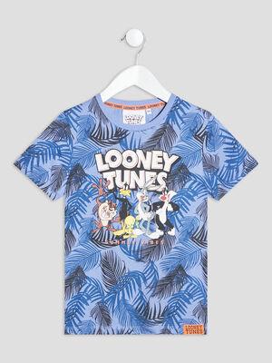 T shirt Looney Tunes bleu garcon