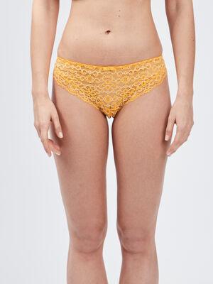 Culotte jaune moutarde femme
