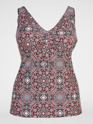 Haut de maillot tankini imprime Violeta multicolore femme