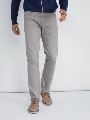 Pantalon en coton droit gris homme