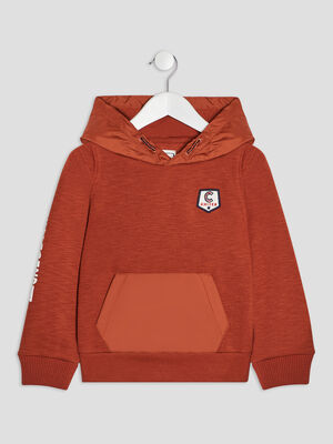 Sweat a capuche Creeks orange fonce garcon