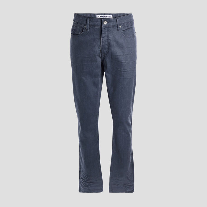 Jeans straight stretch Creeks homme bleu