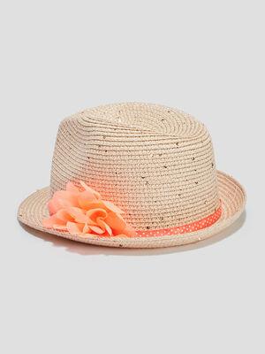 Chapeau ruban et fleurs multicolore fille