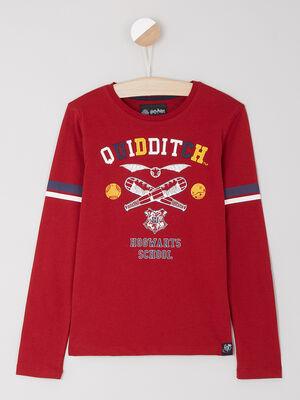 T shirt manches longues rouge garcon