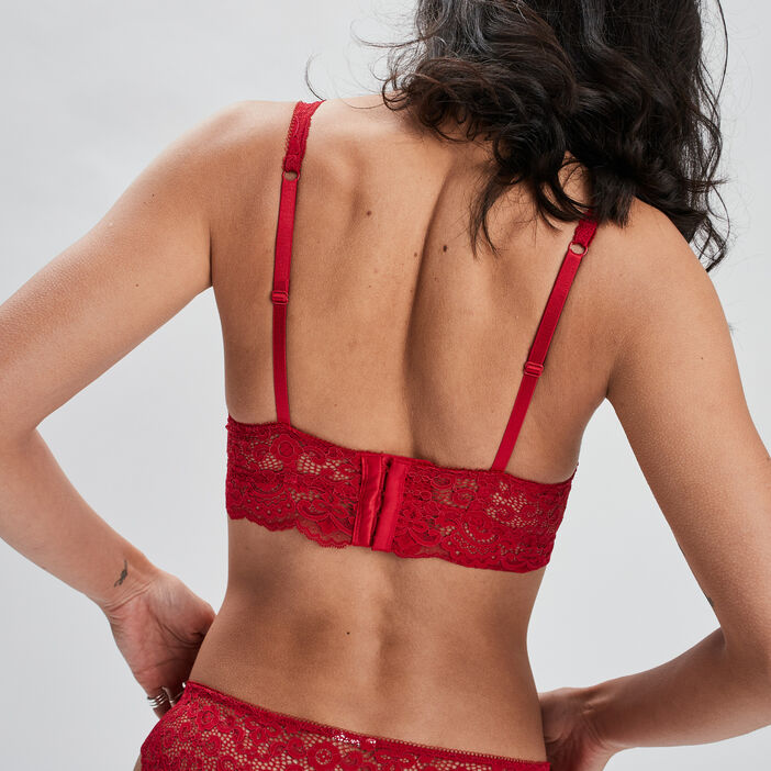 Soutien-gorge foulard femme rouge
