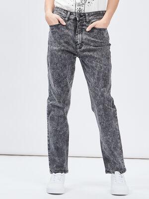 Jeans mom delave Liberto gris femme