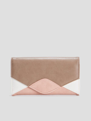 Portefeuille rectangulaire rose femme