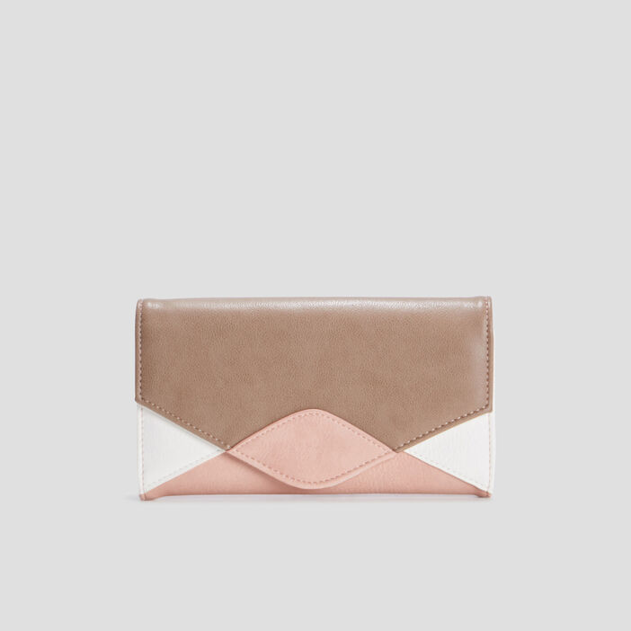 Portefeuille rectangulaire femme rose