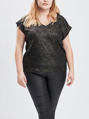 T shirt grande taille couleur or femmegt